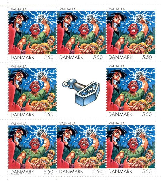 Post Danmark frimærke - 2002