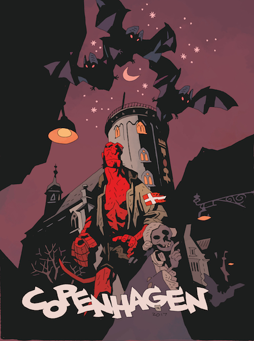 Mike Mignola print for Art Bubble